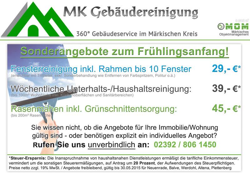 Sondernangebote Gebäudereinigung Werdohl Altena Lüdenscheid